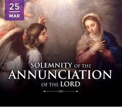 Parent Newsletter March 19, 2021  - Solemnity of the Annunciation of the Lord