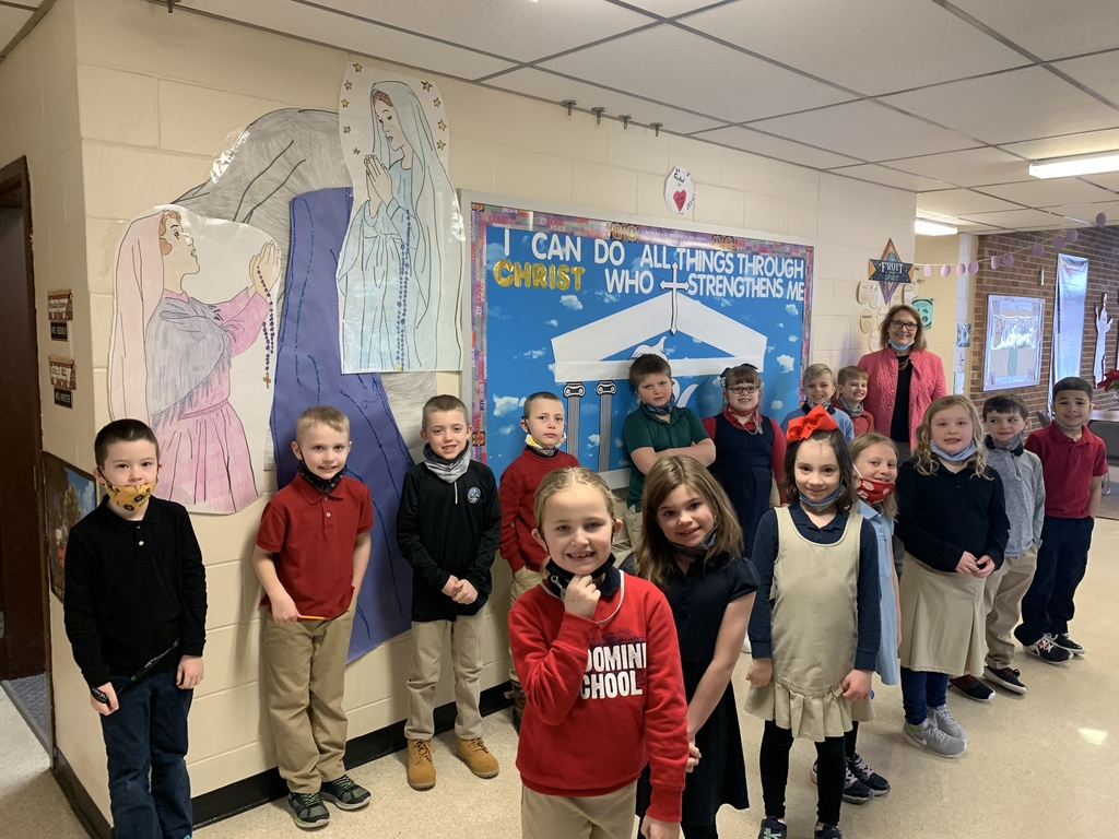 Second Grade teaches us about Holy Hero Saint Bernadette of Lourdes.